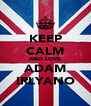 KEEP CALM AND LOVE ADAM IRLYANO - Personalised Poster A4 size