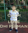 KEEP CALM AND LOVE ADHI PERMANA - Personalised Poster A4 size