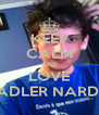 KEEP CALM AND LOVE ADLER NARDI - Personalised Poster A4 size