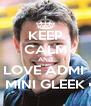 KEEP CALM AND LOVE ADMI  • MINI GLEEK • - Personalised Poster A4 size