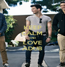 KEEP CALM AND LOVE ADUB - Personalised Poster A4 size