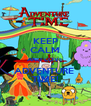 KEEP CALM AND LOVE ADVENTURE   TIME!  - Personalised Poster A4 size