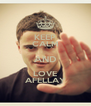 KEEP CALM AND LOVE AFELLAY - Personalised Poster A4 size