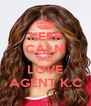 KEEP CALM AND LOVE AGENT K.C - Personalised Poster A4 size