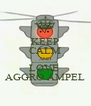 KEEP CALM AND LOVE  AGGRO AMPEL - Personalised Poster A4 size