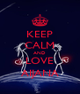 KEEP CALM AND LOVE AIJANA - Personalised Poster A4 size