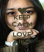 KEEP CALM AND LOVE AIKO - Personalised Poster A4 size