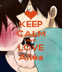 KEEP CALM AND LOVE Ailéa - Personalised Poster A4 size