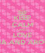 KEEP CALM AND LOVE AISHA AND AROOBA - Personalised Poster A4 size