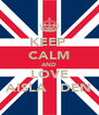 KEEP  CALM AND LOVE AISLA   DEN - Personalised Poster A4 size