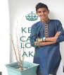 KEEP CALM AND LOVE AKIL - Personalised Poster A4 size