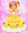 KEEP CALM AND LOVE Ako - Personalised Poster A4 size
