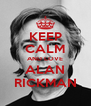 KEEP CALM AND LOVE ALAN RICKMAN - Personalised Poster A4 size