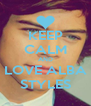 KEEP CALM AND LOVE ALBA STYLES - Personalised Poster A4 size