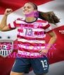 KEEP CALM AND LOVE ALEX MORGAN!!  - Personalised Poster A4 size
