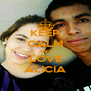 KEEP CALM AND LOVE ALICIA - Personalised Poster A4 size