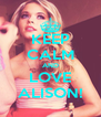 KEEP CALM AND LOVE ALISON! - Personalised Poster A4 size