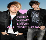KEEP CALM AND LOVE ALL TIME LOW - Personalised Poster A4 size