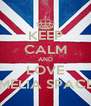 KEEP CALM AND LOVE AMELIA SPACEY - Personalised Poster A4 size