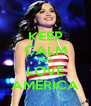KEEP CALM AND LOVE AMERICA - Personalised Poster A4 size