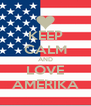 KEEP CALM AND LOVE AMERIKA - Personalised Poster A4 size