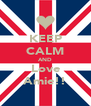 KEEP CALM AND Love Amie!! - Personalised Poster A4 size