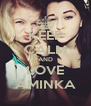 KEEP CALM AND LOVE AMINKA - Personalised Poster A4 size