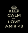 KEEP CALM AND LOVE AMIR <3 - Personalised Poster A4 size
