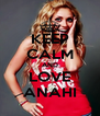 KEEP CALM AND LOVE ANAHI - Personalised Poster A4 size