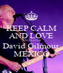 KEEP CALM AND LOVE AND LOVE David Gilmour MEXICO - Personalised Poster A4 size