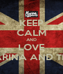 KEEP CALM AND LOVE AND LOVE MARINA AND THE DIAMONDS - Personalised Poster A4 size