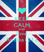 KEEP CALM AND love Andika1212 - Personalised Poster A4 size
