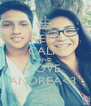 KEEP CALM AND LOVE ANDREA<3  - Personalised Poster A4 size