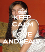 KEEP CALM AND LOVE ANDREA V. - Personalised Poster A4 size