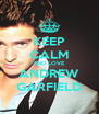 KEEP CALM AND LOVE ANDREW GARFIELD - Personalised Poster A4 size