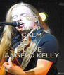 KEEP CALM AND LOVE ANGELO KELLY - Personalised Poster A4 size
