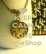 KEEP CALM AND LOVE AngieShop - Personalised Poster A4 size