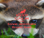 KEEP CALM AND love animals from bet - Personalised Poster A4 size