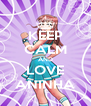 KEEP CALM AND LOVE ANINHA - Personalised Poster A4 size