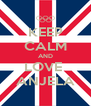 KEEP CALM AND LOVE  ANJELA - Personalised Poster A4 size