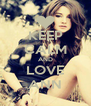 KEEP CALM AND LOVE ANN - Personalised Poster A4 size