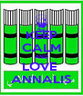KEEP CALM AND LOVE  ANNALIS - Personalised Poster A4 size