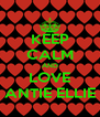 KEEP CALM AND LOVE ANTIE ELLIE - Personalised Poster A4 size