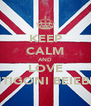 KEEP CALM AND LOVE ANTIGONI BEIEBER. - Personalised Poster A4 size