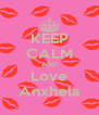 KEEP CALM AND Love Anxhela - Personalised Poster A4 size