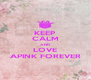 KEEP CALM AND LOVE APINK FOREVER - Personalised Poster A4 size