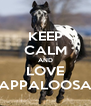 KEEP CALM AND LOVE APPALOOSA - Personalised Poster A4 size