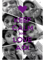 KEEP CALM AND LOVE AQI - Personalised Poster A4 size
