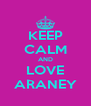 KEEP CALM AND LOVE ARANEY - Personalised Poster A4 size