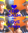 KEEP CALM AND LOVE Araya - Personalised Poster A4 size